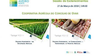 Sessão de Esclarecimentos – Cooperativa Agrícola do Concelho de Ovar